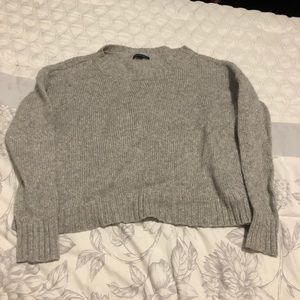 Cropped sparkly sweater